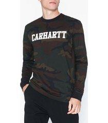 carhartt wip l/s college t-shirt tröjor camo