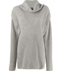 isabel marant ribbed-knit jumper dress - grey