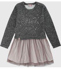 vestido gris oscuro-rosa boboli
