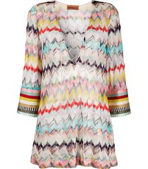 missoni mare fine knit beach dress - pink
