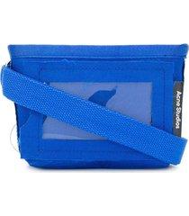 acne studios stitched mini shoulder bag - blue