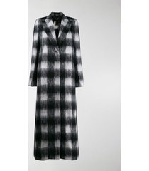 maison margiela checked textured long coat
