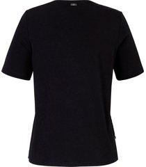 shirt met v-hals en korte mouwen van emilia lay zwart