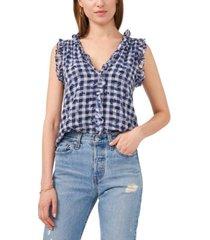 1.state women's short sleeve v-neck ruffle top
