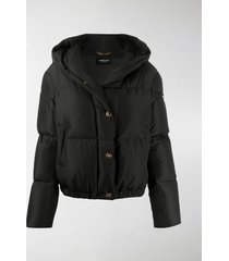 versace barocco acanthus print puffer jacket