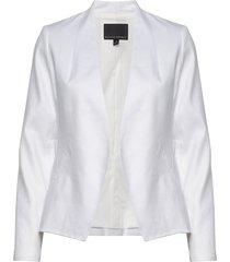 collarless linen-cotton blazer blazer kavaj vit banana republic