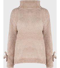 sweater nrg chenille beige - calce oversize