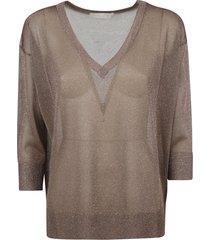 fabiana filippi glitter applique v-neck sweater