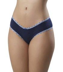 calcinha mardelle algodã£o laterais largas marinho - azul marinho - feminino - dafiti
