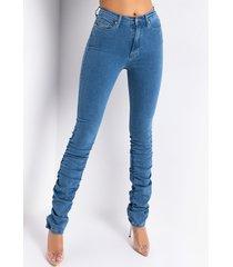 akira anitta stacked high waisted skinny jeans