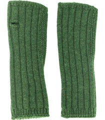 holland & holland knitted mittens - green