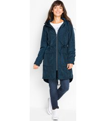 lange outdoor jas met capuchon