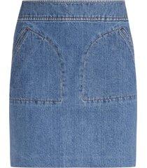 a.p.c. skirt shantya in blue denim