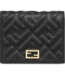 fendi baguette mini wallet - black