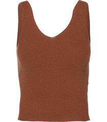 anf womens sweaters t-shirts & tops knitted t-shirts/tops brun abercrombie & fitch