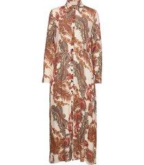 3384 - mikelle maxi dress galajurk multi/patroon sand