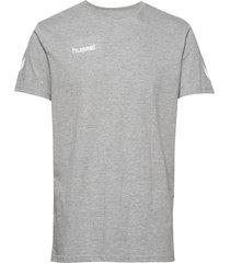 hmlgo cotton t-shirt s/s t-shirts short-sleeved grå hummel