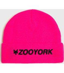 gorro neon fucsia zoo york