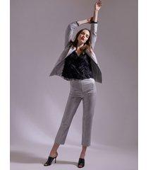 motivi pantaloni a sigaretta lurex donna grigio
