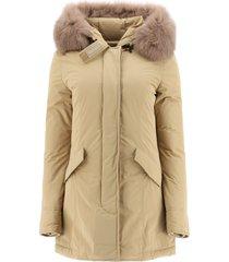 woolrich luxury arctic parka with fox fur