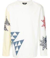 calvin klein 205w39nyc patchwork crew neck sweatshirt - white