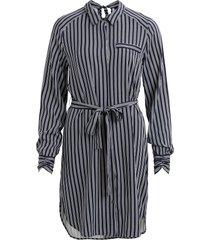 jurk met lange mouwen gestreepte