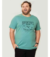 camiseta tradicional adventure wee! verde musgo - gg