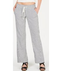 roxy juniors' oceanside cotton striped pants