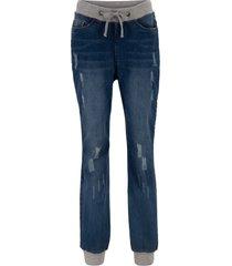 jeans boyfriend con cinta a costine (nero) - bpc bonprix collection