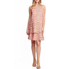 women's maternal america lucy maternity dress, size x-small - coral