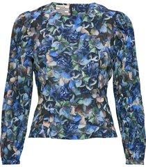 mylee blouse lange mouwen blauw baum und pferdgarten