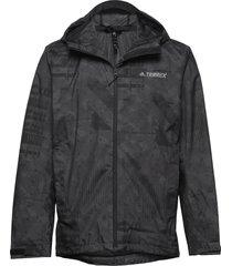 camo rain j outerwear sport jackets zwart adidas performance
