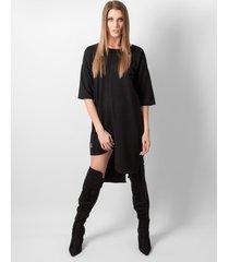 t-shirt black panel dress