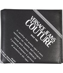 versace jeans couture printed wallet
