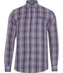 camisa masculina xadrez - cinza