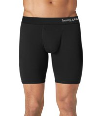 men's tommy john cool cotton performance boxer briefs, size small - black