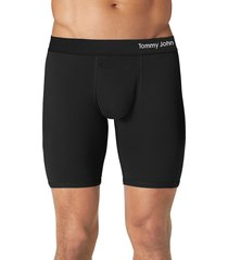 men's tommy john cool cotton boxer briefs, size medium - black