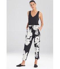 natori lotus pants sleepwear pajamas & loungewear, women's, size l natori