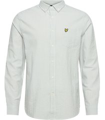 seersucker strike ls shirt skjorta casual grön lyle & scott