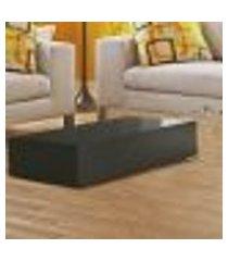 mesa de centro retangular bely - 100% mdf - acabamento em laca preto
