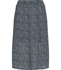 summer pleated skirt knälång kjol blå superdry