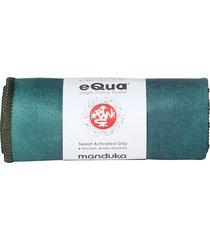 manduka equa yoga hand towel camo green tie dye lightweight microfiber