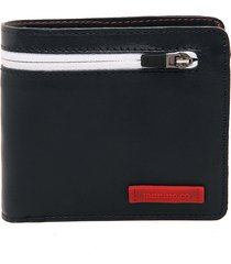 billetera azul oscuro-roja-blanca tannino