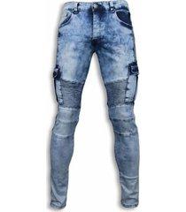 skinny jeans true rise biker jeans biker pocket jeans licht