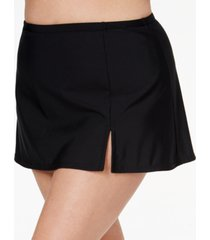 swim solutions plus size swim skirt, created for macy's women's swimsuit