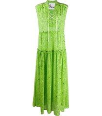8pm star-print maxi dress - green