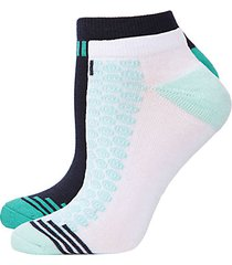 4-pack radial flowers geo-striped cushioned no-show socks