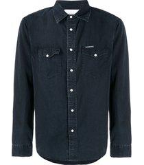 calvin klein jeans faded canvas shirt - black