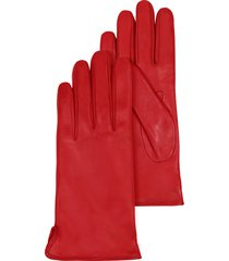 forzieri designer women's gloves, red leather women's gloves w/cashmere lining