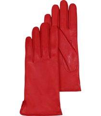 forzieri designer women's gloves, red leather women's gloves w/cashmere lining